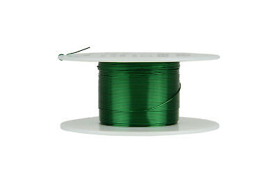 Magnet Wire 28 AWG Gauge Enameled Copper 155C 2oz 248ft Magnetic Coil Green