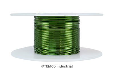 TEMCo Magnet Wire 31 AWG Gauge Enameled Copper 155C 2oz 493ft Coil Green
