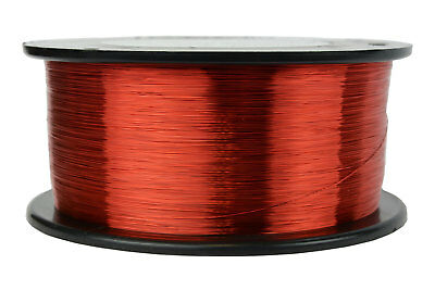 TEMCo Magnet Wire 34 AWG Gauge Enameled Copper 1lb 155C 7840ft Coil Winding