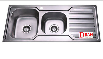 Double Bowl Stainless Steel Kitchen Sink with Drainer