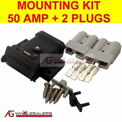 Anderson Plug Mounting Kit 50A With 2 Plugs Mount System Cover Dust Cap External