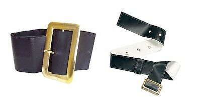 Black #belts For Pirate Or Santa Outfit Christmas Nativity Fancy Dress 2 Kinds