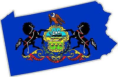 Sticker Pennsylvania State Outline Decal
