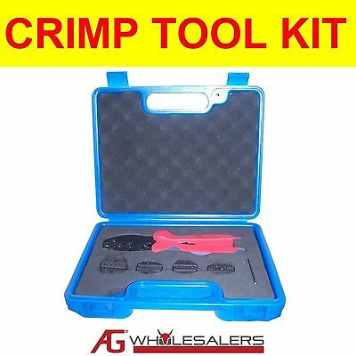 Crimping Tool Set Kit Terminals Open Barrel, Wire End Ferrule, Anderson Plug 50A