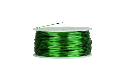 Magnet Wire 24 AWG Gauge Enameled Copper 155C 1lb 790ft Magnetic Coil Green