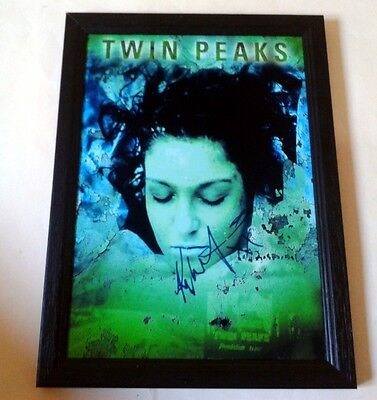 """TWIN PEAKS PP SIGNED & FRAMED 12"""" X 8"""" POSTER Kyle MacLachlan"""