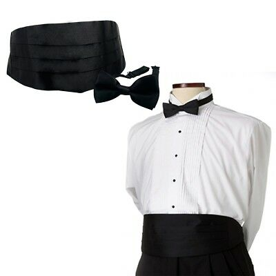 Montalia - Tuxedo Formal Suit Cummerbund Pre-Tie Bowtie Set Prom Wedding UK