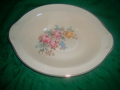 Vintage Taylor Smith Taylor Oval Vegetable Bowl Flowers