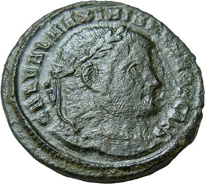 Galerius AE Follis Genius Authentic Ancient Roman Bronze Coin Rare