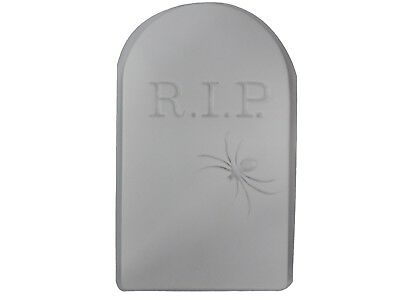 Huge RIP Spider Tombstone Concrete Cement Halloween Mold 8007 Moldcreations