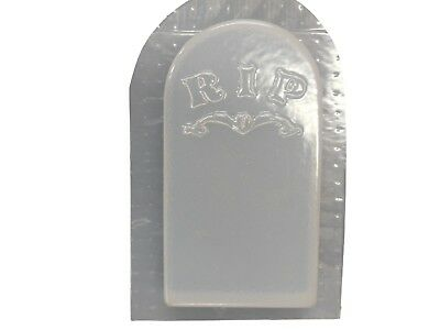 SMALL RIP TOMBSTONE CONCRETE PLASTER CEMENT HALLOWEEN  MOLD 8016 Moldcreations