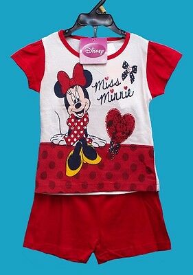 BNWT GIRL'S,BOY DISNEY MINNIE SHORT SET TV CHARACTER Ages, 4, 6, 8, 10, 12 Years