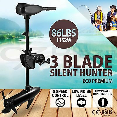 86LBS Electric Inflatable Boat Marine Trolling Motor Outboard