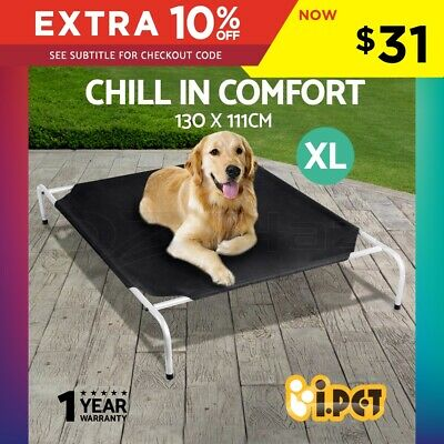 Large Pet Dog Bed Trampoline Cat Puppy Hammock Canvas Cover Heavy Duty Frame XL