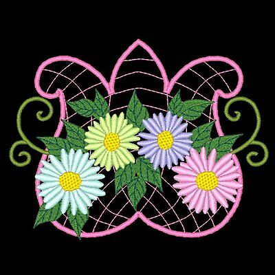 Daisies - 30 Machine Embroidery Designs (Azeb)