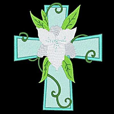 Floral Crosses - 30 Machine Embroidery Designs (Azeb)