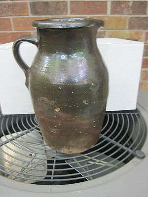 Gillsville,Georgia ( Ga)  Early Stoneware One Gallon Pitcher Hewell? Albany Slip