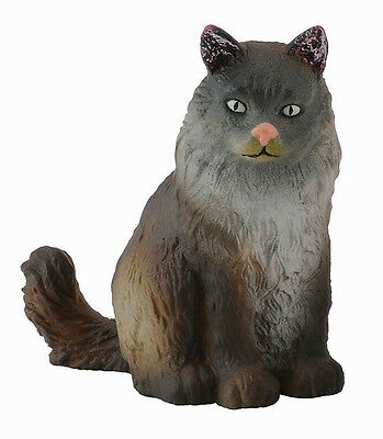 CollectA 88327 Norwegian Forest Cat Sitting - Model Figurine Toy Cat Gift - NIP