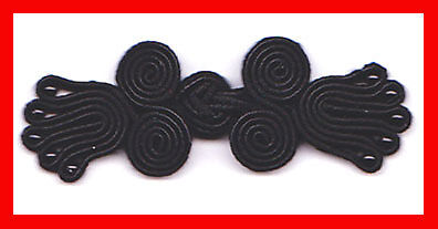 6 pairs black bead knots Chinese Frogs buttons sewing