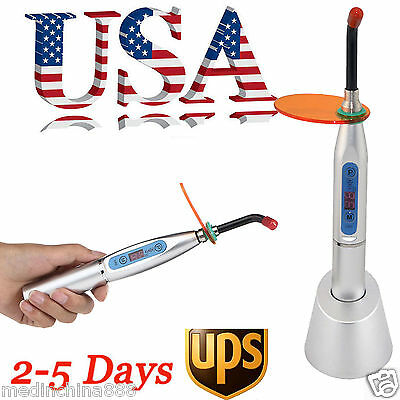 New Silver Dental 10W Wireless Cordless LED Curing Light Lamp 1500mw-US Seller