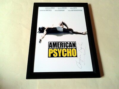 """American Psycho Signed & Framed 12""""x8"""" Poster Christian Bale"""