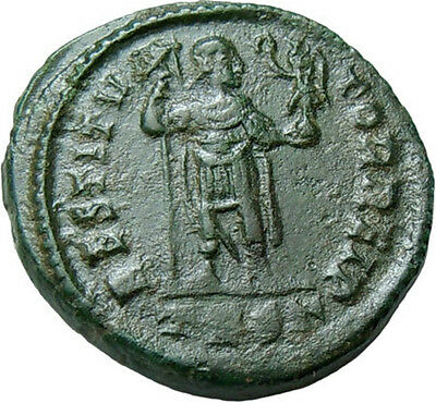 Valentinian I AE Victory on Globe Authentic Ancient Roman Bronze Coin