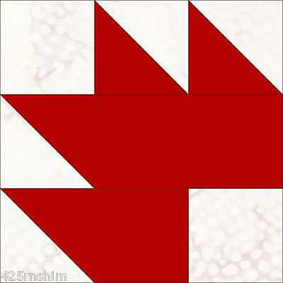 8 Inch Maple Leaf Quilt Pattern....Clear Acrylic Templates FREE SHIPPING!!!