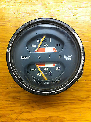L@@k Smiths Old Leyland Twin Air Gauge Good Condition Used