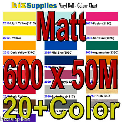 Matt Color Vinyl Wall Decor Sticker / Indoor Vinyl Roll 60cmx45.7m