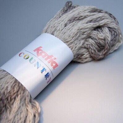 9.90 EUR pro 100 g Katia New York 132 taupe-silber 50g