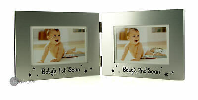 Double Baby Scan Photo Frame Baby Shower Gift CG737