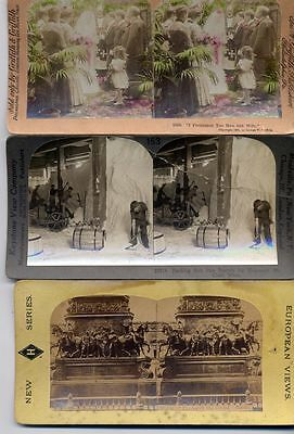 Stereo View Photographs Lot Of 15