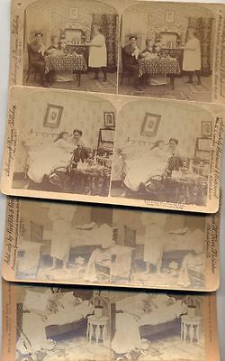 Stereo View Photographs Of Men And Women In 1897 Set Of 4