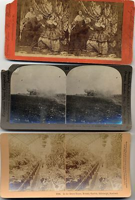 Stereo View Photographs Miscellanious Set Of 7