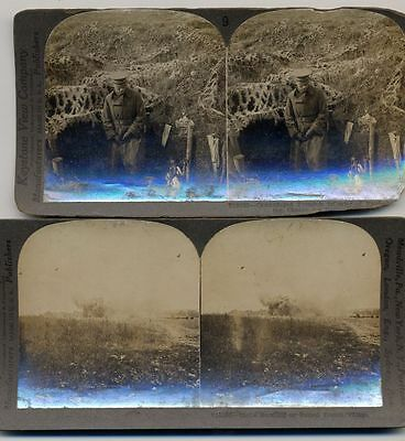 Stereo View Photographs Of Wwi Set Of 2