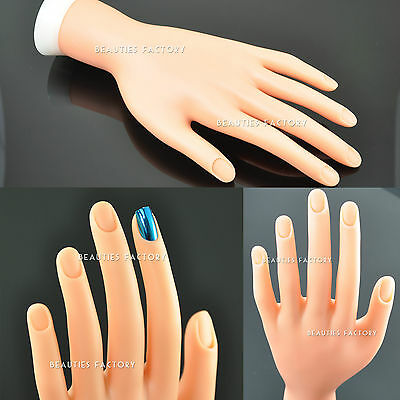 Blendable Finger Nail Movable Soft Practice Display Training Hand Tool #86