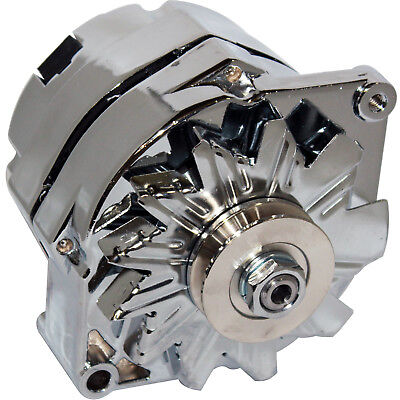 HIGH OUTPUT ALTERNATOR FOR CHEVY SBS BBC GM OLDS BUICK HOTROD 1 ONE WIRE 200AMP