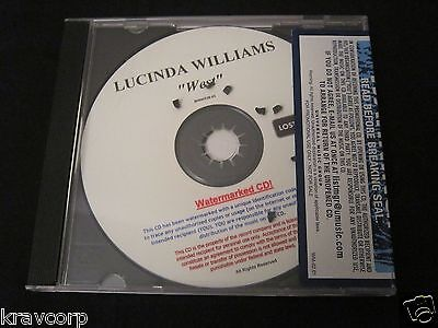 Lucinda Williams 'West' 2007 Advance Cd—Sealed