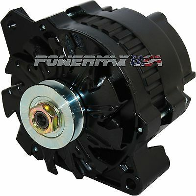 NEW BLACK  HIGH OUTPUT ALTERNATOR Fits CHEVY 220 AMP 1-WIRE 65-85
