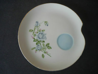 Lefton Toast Plate Blue Rose Fine English China