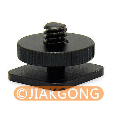 "10pcs/LOT 1/4""-20 Tripod screw to Flash Hot Shoe Mount Adapter"
