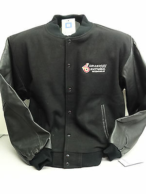 Buick Turbo Grand National Black Wool/leather Lettermans Jacket Licensed By Gm