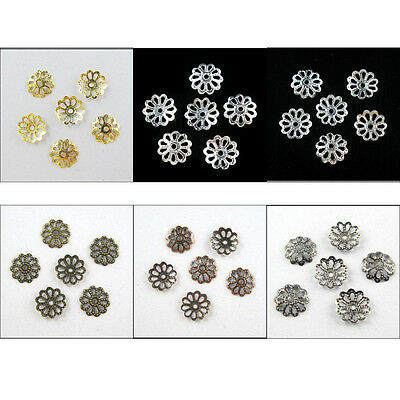 7mm,9mm,15mm Flower End Bead Caps Charms Gold,Silver,Bronze,Copper etc.R403
