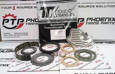 4R70W 4R75W TRANSMISSION MASTER REBUILD KIT 2004 & Up clutches steels band