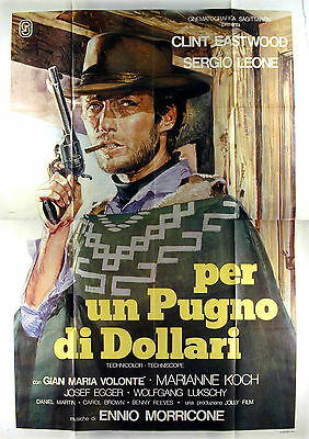 A Fistful Of Dollars -Clint Eastwood/sergio Leone- Original Italian 4Sht Poster