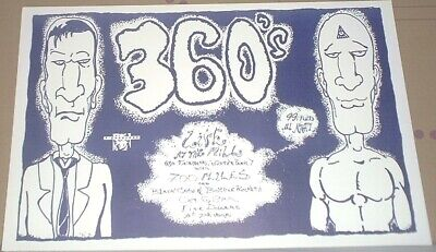 The 360's + 700 Miles +Bottle Rockets CONCERT GIG POSTER Next Big Thing/no-cd/lp