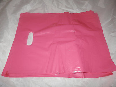 "100 12""x15"" Pink Glossy Low-Density Plastic Merchandise Bags Wholesale lot Bags"