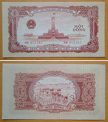 Vietnam Paper Money 1 Dong 1958 AU