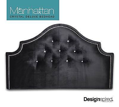 MANHATTAN CRYSTAL DELUXE - Upholstered Bedhead for Queen Ensemble