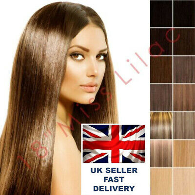 "100% Remy Human Hair Extensions 18"" Full Head WEFT"